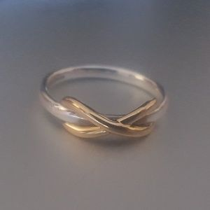 Tiffany & Co. 18k Rose Gold Sterling Infinity Ring